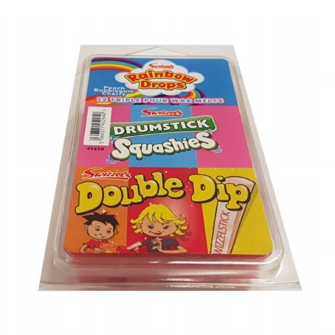 Rainbow Drops Drumstick Squashies Double Dip - Swizzels Wax Melts 12 Pack